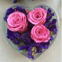 Quality Transparent Acrylic Storage Box Flower Container Gift Luxury Packaging Heart Shaped for sale