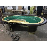 Buy cheap Professional MDF Majestic Casino Baccarat Table Custom Poker Table With LCD Screen product