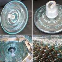 China Green Glass Electric Insulators Disc Suspension Type Toughened Glass Insulator on sale