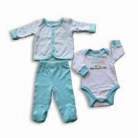 Quality Baby Clothing Set, Made of 200gsm 100% Cotton Interlock, Available Various Sizes and Designs for sale