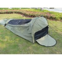 Quality Canvas Famliy 2 Man Swag Tent , YKK Zipper Swag Bag Tent With Aluminum Pole for sale