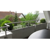 China 100mm Deck Stainless Steel Railing Assembly on sale