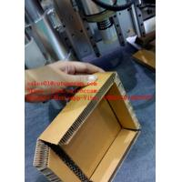 China Cardboard Honey Cell Sandwich Paper Board CNC V Straight Knife Cutting Machine on sale