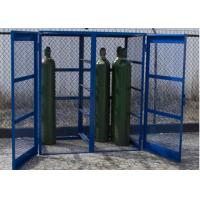 Quality Propane Bottle Storage Cage , Refrigerant Storage Cage Single / Double Doors for sale