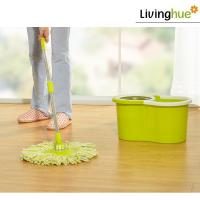 Low price flexible microfiber mop magic mop foldable mop and bucket