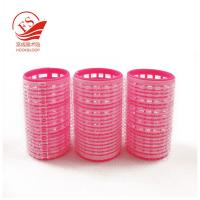 Quality Professional Red Hook And Loop Hair Rollers / Sponge Hair Curler For Long Hair for sale