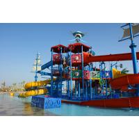Quality Holiday Resorts Water Playground Equipment Hot Dip Galvanizing Steel Structure for sale