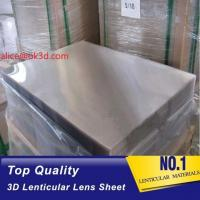 Buy 3d lenticular lens sheet  70LPI PET 0.9MM 60X80CM for 3d lenticular printing by injekt print and UV offset print at wholesale prices