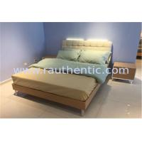 Quality Steady wood bed frame with Metal supporting legs with Comfortable upholstered headboard for sale