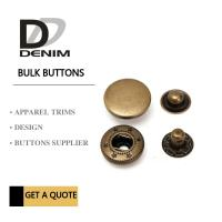 Quality Anti Brass Spring Snap Socket Buttons 4 - Parts For Jacket Bulk Trims Available Sizes for sale
