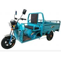 Quality Blue Three Wheel Cargo Motorcycle / Chinese Cargo Trike 800W Power 60V for sale
