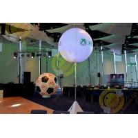Quality 2.5m White Attractive Round Inflatable Helium Balloon with RGB LED Lighting for sale