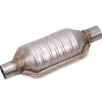 """Quality Universal Fit 2"""" X 2"""" Inlet / Outlet Oval Catalytic Converter 304 Stainless Steel for sale"""
