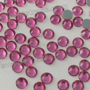 China Garment Clothing Accessories Women Fashion Trim Shimmer Studs Gemstones Crystal Flat Back Hot Fix Rhinestone MC on sale