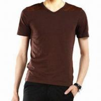 Quality Shammy Joint Slim V-neck T-shirt for Men, Comes in Fashionable Design for sale