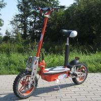 Quality 1000w Foldable Electric Scooter With Big Wheel Rim , Front And Rear Disc Brake for sale