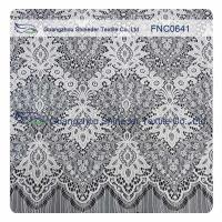 Quality White Nylon Polyester Lace Fabric for sale