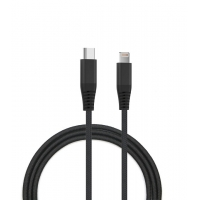 Quality Round PVC 480Mbps 9V2A USB C To Lightning Cable 30AWG for sale