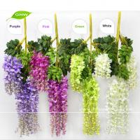 China GNW FLV24 Wholesale China Market Wedding use Artificial Flower for Wall Decoration White Wisteria Vine on sale