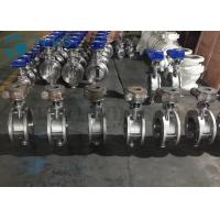 Quality Metal Seated Butterfly Valve High Performance Double Flange End Triple Eccentric Worm Gear for sale
