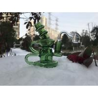 Buy cheap Green Water Bubbler Smoking Pipe , Borosilicate Glass Hand Smoking Pipes from wholesalers