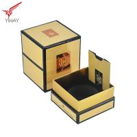Quality Nice Paper Perfume Packaging Boxes Yellow Black Flexo Printing Color for sale