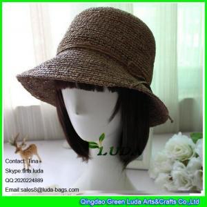 China LDMZ-004 2016 fashion summer raffia straw hats on sale