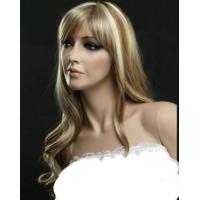 Quality New Sexy Fasinating Long Wavy Mixed Brown 100% Human Hair Wig About 22 Inches for sale