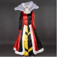 Quality Princess Dress Wholesale Satin Custom Made Long Sleeve Queen of Hearts Dress Cosplay Dress for sale