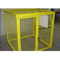 Quality Multi Colors Flammable Storage Cage , Gas Bottle Safety Cages Removable for sale