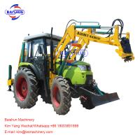 Quality Wire Rod Tractor Mounted Post Hole Digger / Large Pole Drilling Equipment for sale