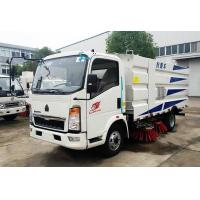 Quality Howo White 4*2 Road Cleaning Truck With 1.5cbm Water And 4cbm Dust Tank for sale