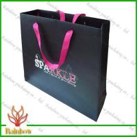 Quality Customized Luxury Brown Kraft Paper Bags For Shopping With Hang Rope for sale