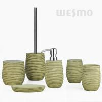 Quality 7 Pcs Set Polyresin Bathroom Set Represents One Of The Beach Sights (WBP0832A) for sale