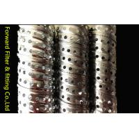 Round Corrugated Metal Perforated Steel Tubing Locking Seam Filter Core