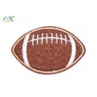 Quality America Felt Fabric Embroidered Sports Patches Shape Customized With Sew On Backing for sale