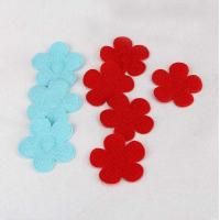 China Assorted Color Iron On Embroidered Patches Red Padded Handmade 40mm Size on sale