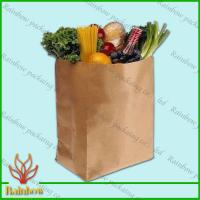 Quality Brown Kraft Custom Paper Bags Recyclable Durable For Fruit for sale