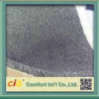 Quality Grey Flame Retardant Carpet Fabric , Polyester Bonding Brushed Carpet for Indoor or Outdoor for sale