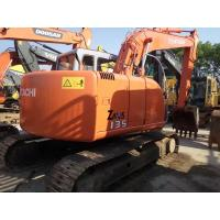 Quality HITACHI ZX135 Second Hand Excavators , 2nd Hand Diggers Isuzu Engine 4  Cylinders for sale