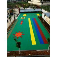 Quality Acid Resistance Rubber Playground Mats For Sports Track , Football Field for sale