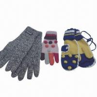 Quality Women's Knitted Gloves, Made of 100% Acrylic, with Jacquard Weave for sale