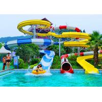 Quality Adult Construction Spiral Swimming Pool Slide Theme Park Water Slide 90 KW Power for sale