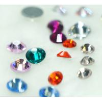 Quality DMC rhinestone hot fix crystal stones with machine cut for sale
