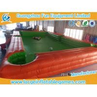 Buy cheap High quality 7.8*4.8m Inflatable Playground Billiards Football Portable Table Snooker product