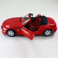 Quality 1 / 24 Die cast Alloy Red Car Custom Scale Model Cars BMW Roadster Miniature Car Model for sale