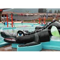 Quality Small Fiberglass Water Pool Slides For Kids , Water Park Equipment Crocodile Slide for sale