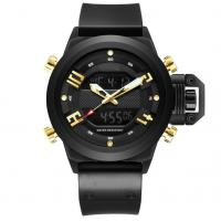 Buy cheap Silicone Strap Alloy Case Men Dual Display Analog Digital Watch mens sport from wholesalers