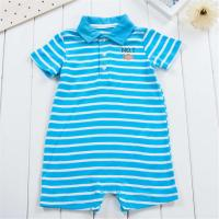 China Polo Collar Cute Baby Boy Outfits Boy Bodysuit Simple Stripe Patterns Baby Wear Clothes on sale