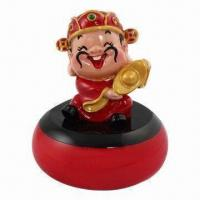 Quality Novelty Vibration Speaker with Chinese God of Wealth Exterior Design/TF Reader/FM Radio for sale